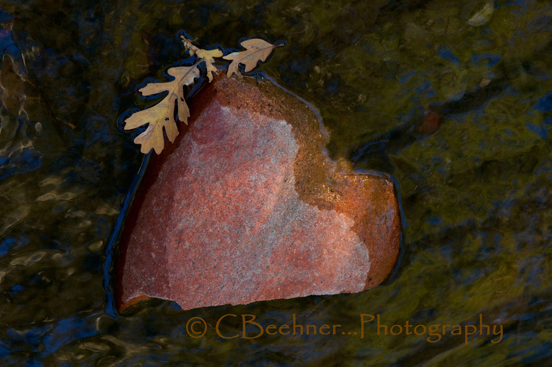11-23-2010…    Found:   Broken Heart,  piece still missing…  A rock in Little Chico Creek...