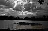 Manzanita Lake, thunder storms are coming in...