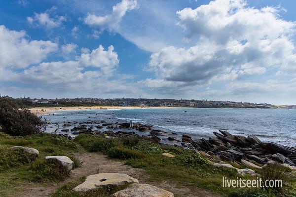 Looking back over Maroubra Beach, from Malabar Headland Coastal Walk