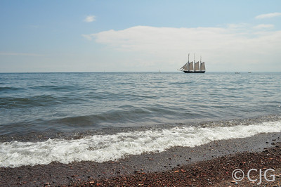 Tall Ship On Lake Superior.