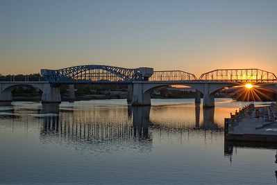 Bridge in Chattanooga TN at sunrise
