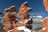Siamese Twins and Pikes Peak after a new snowstorm, Garden of the Gods, Colorado Springs, Colorado