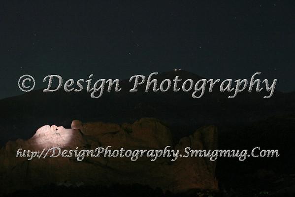 Kissing Camels at Night, Colorado Springs, Colorado
