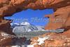 Pikes Peak seen through hole at Garden of the Gods Park, Colorado Springs, Colorado