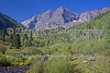 Maroon Bells: Elk Mountain Range on the border between Pitkin County and Gunnison County, Colorado