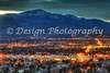Pikes Peak with City Lights, Colorado Springs, Colorado
