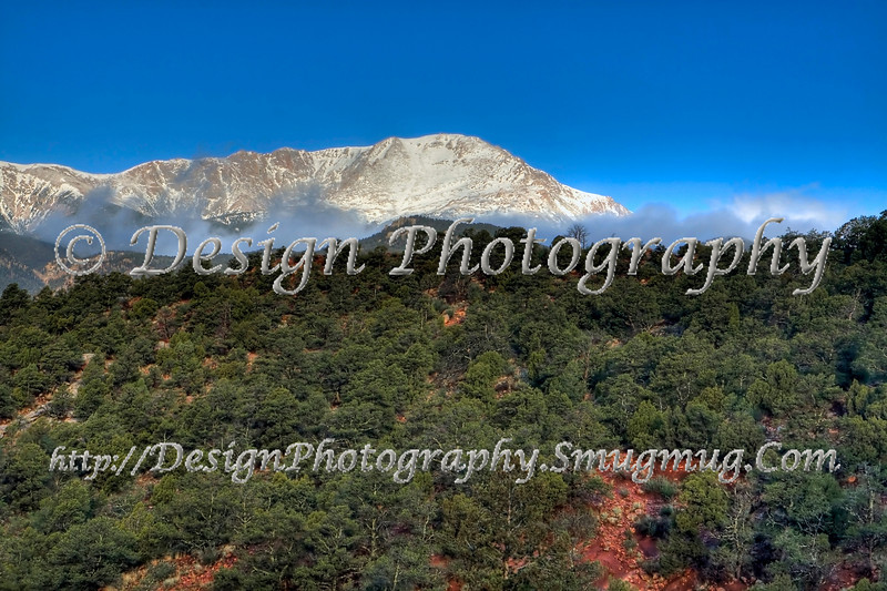 Pikes Peak from Garden of the Gods, Colorado Springs, Colorado