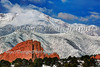 Pikes Peak, Snowcover, Colorado Springs, Colorado