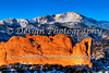 Pikes Peak and North Gateway Rock, Colorado Springs, Colorado