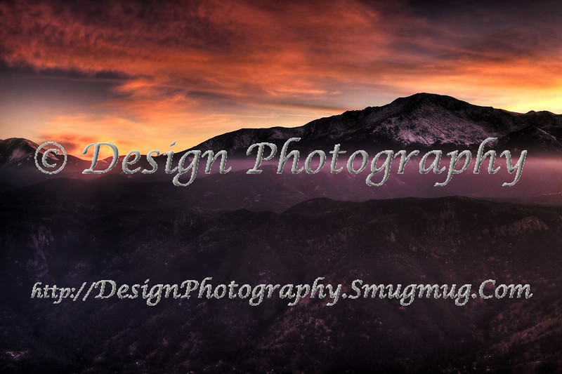 Sunset, October, Pikes Peak, Colorado Springs, Colorado