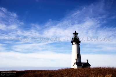 Yaquina Head Lighthouse.  Photographed 1/13/13.