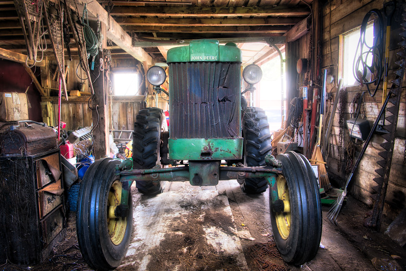 Working Tractor at Rest