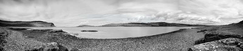 Loch Na Keal in black and white