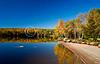 Saddleback Lake fall scenic