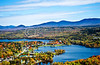 Rangeley Village-Saddleback fall aerial