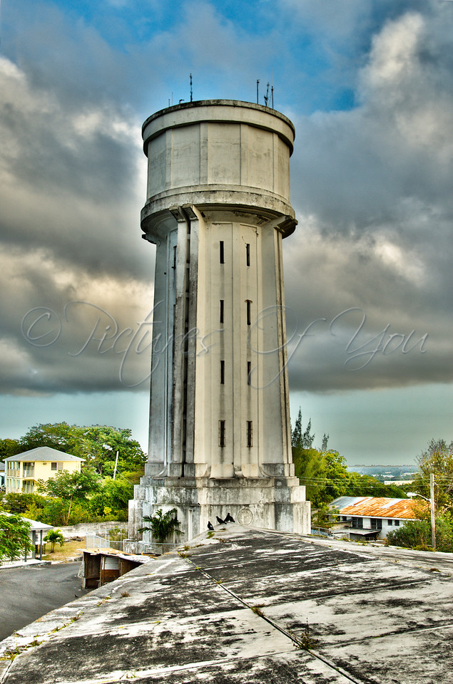 HDR of water tower in Nassau, Bahamas
