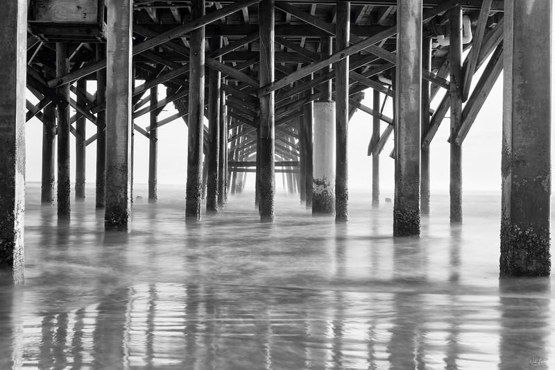 new smyrna pier_7432_bw