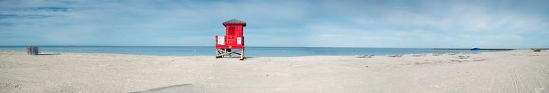 Sand Key beach panorama #2