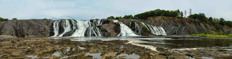 Cohoes Falls Panoramic, Cohoes NY  (9 images merged)