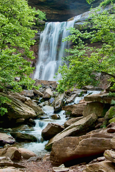 The lower portion of the Kaaterskill Falls, located in the Catskills.