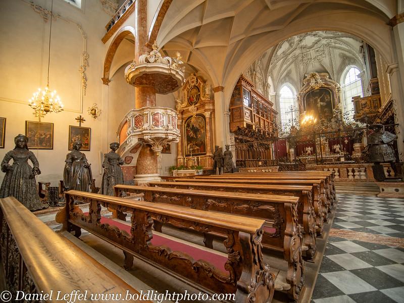 Austria Winter Innsbruck Court Church