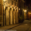 Bruges Belgium Street Scene at Night