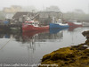Peggy's Cove Nova Scotia Foggy Morning