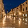 Dubrovnik Old Town Street Scene Pre Dawn