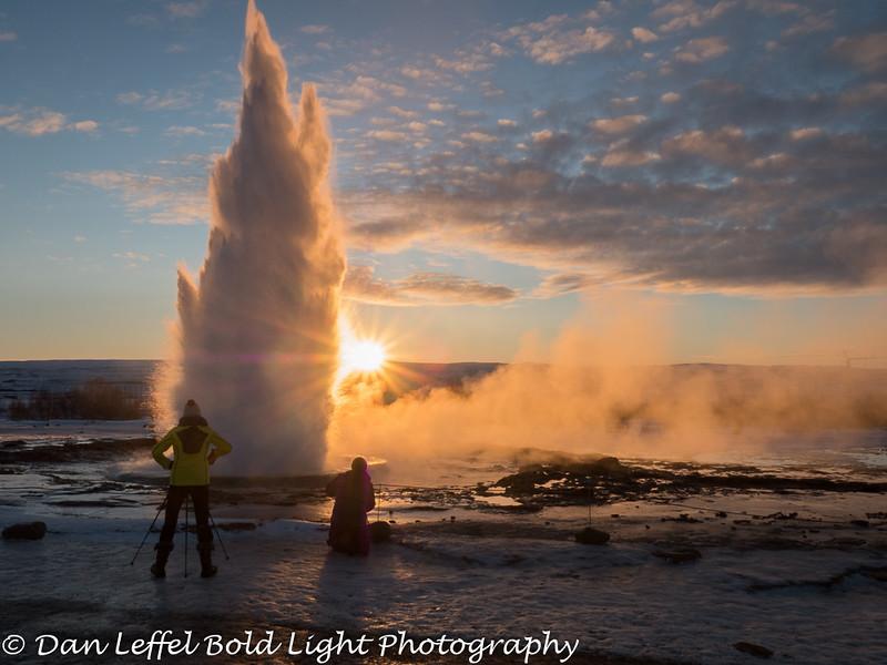 Iceland Geysir Eruption