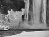 Iceland Skogafoss Waterfall in Winter