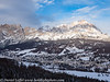 Italy Winter Dolomite Mountains Cortina