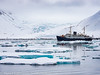 Svalbard Norway Glacier and Ship