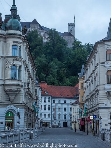 Slovenia Ljubljana Street Scene