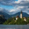 Slovenia Lake Bled Island and Castle