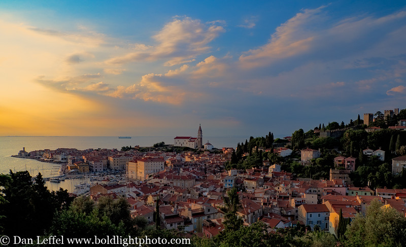Slovenia Coast City of Piran Sunset