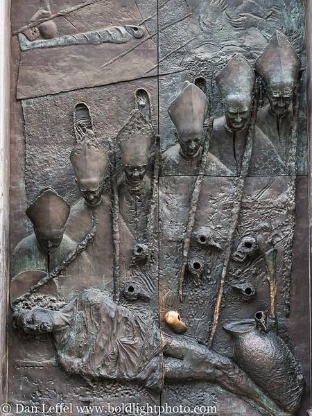Slovenia Ljubljana Cathedral Door