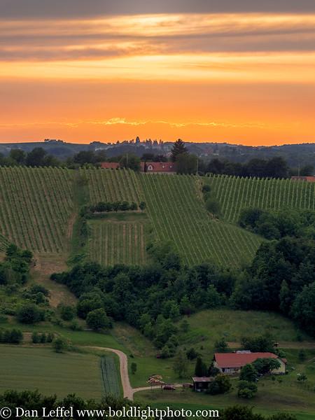 Slovenia Jeruzalem Wine Country Sunset