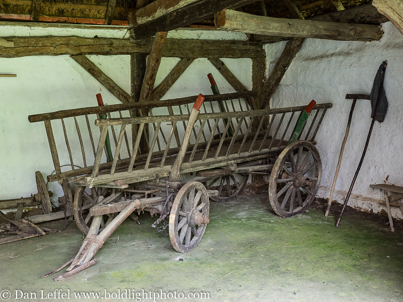 Slovenia Antique Hay Wagon