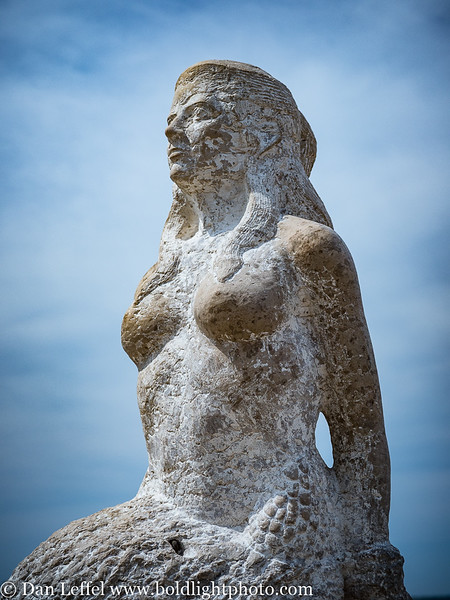 Slovenia Coast City of Piran Mermaid Statue