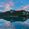 Slovenia Lake Bled Castle Sunrise