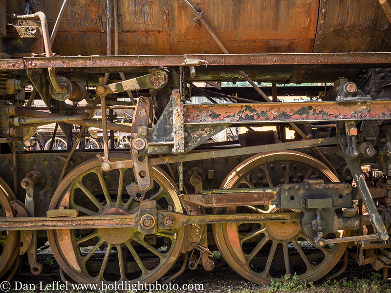 Slovenia Ljubljana Train Museum Locomotive Wheels Closeup
