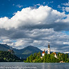 Slovenia Lake Bled Island and Castle
