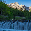 Slovenia Julian Alps Waterfall