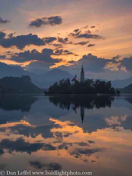Slovenia Lake Bled Island Sunrise