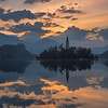 Slovenia Lake Bled Island Sunrise