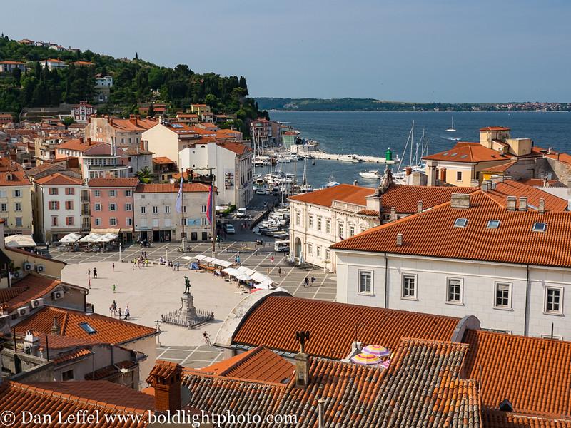 Slovenia Coast City of Piran View from St George Church