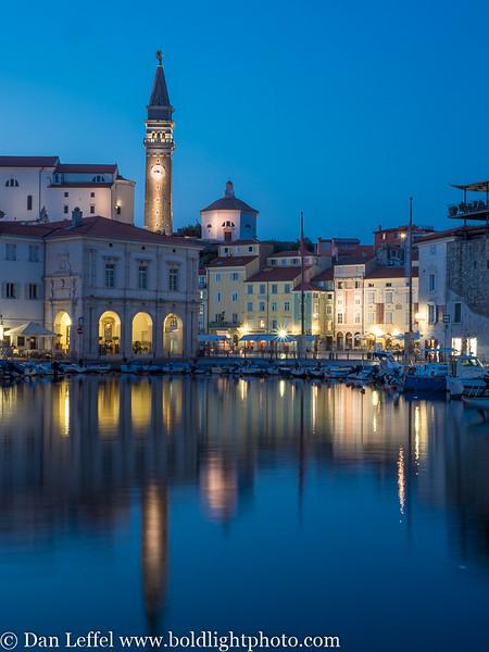 Slovenia Coast City of Piran Harbor