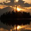 Slovenia Lake Bled Island Sunrise Starburst