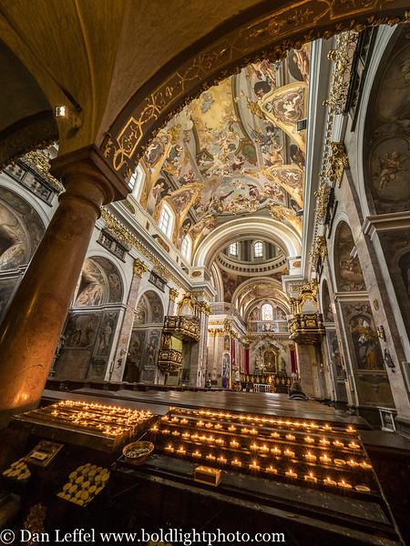 Slovenia Ljubljana St. Nicholas Cathedral Inside