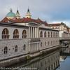 Slovenia Ljubljana River Scene